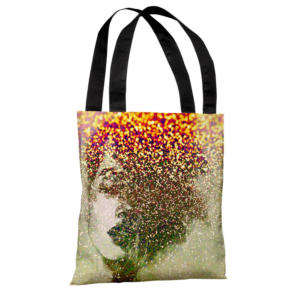 Closed Eyes - Tan Multi Tote Bag by OBC