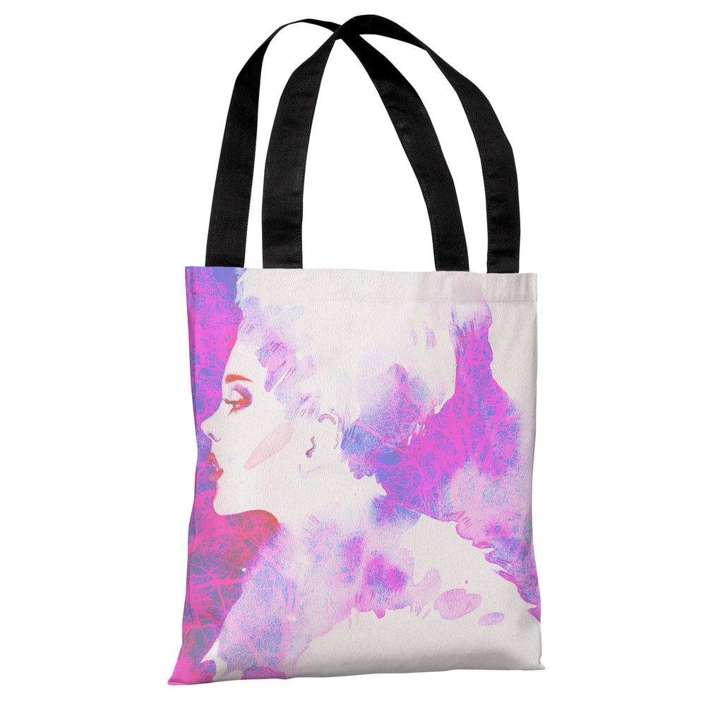 Hi Fashion Woman - White Pink Tote Bag by OBC