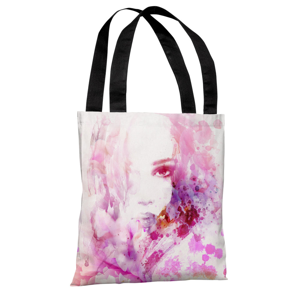 Mane Model - White Pink Tote Bag by OBC