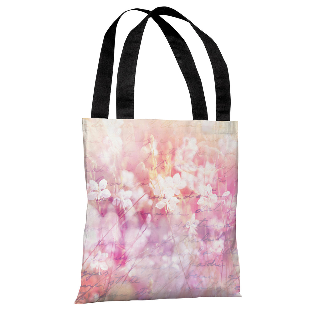 Roaming in the Field - Pink Tote Bag by OBC