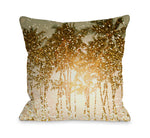 Sparkly Summer - Yellow Multi Outdoor Throw Pillow by OBC