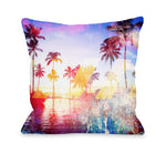 Santa Monica - Multi Outdoor Throw Pillow by OBC