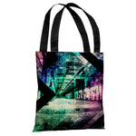 Distressed Building - Multi Tote Bag by OBC
