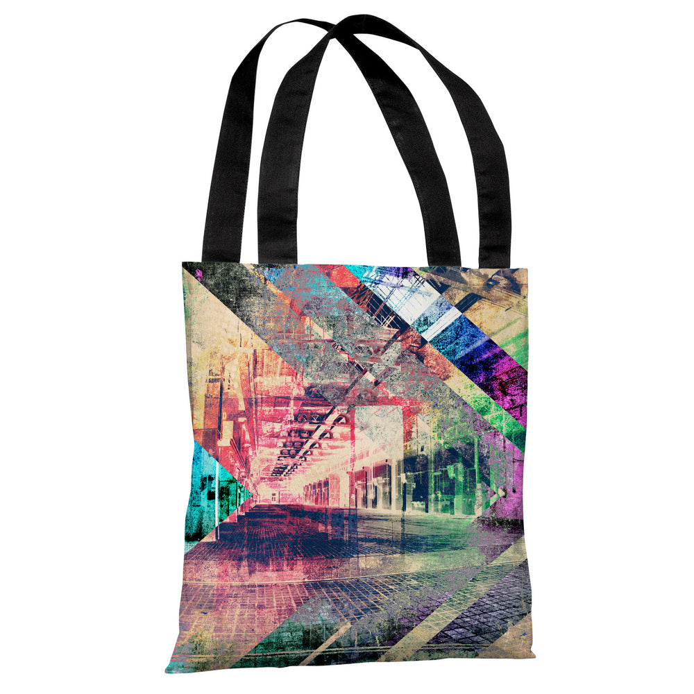 Distressed Building 2 - Multi Tote Bag by OBC