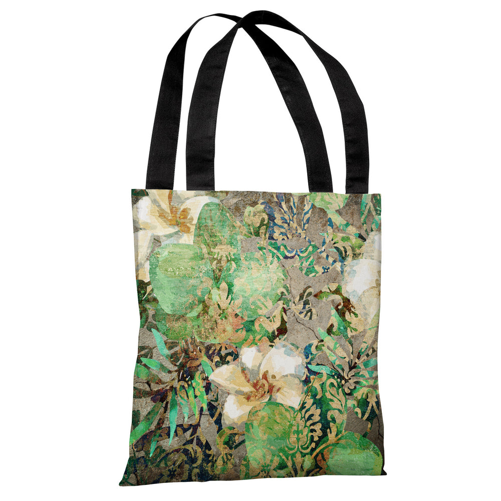 Equa Floral Wall - Multi Tote Bag by OBC