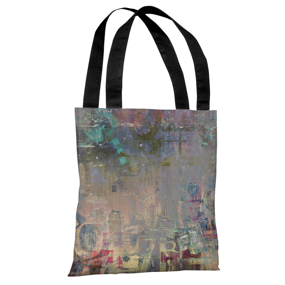 Graffiti Stain - Gray Multi Tote Bag by OBC