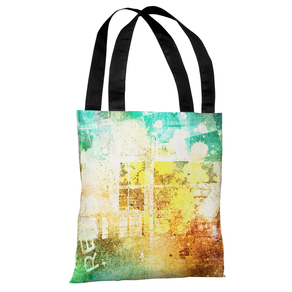 Grunge Check Paint Splash - Multi Tote Bag by OBC