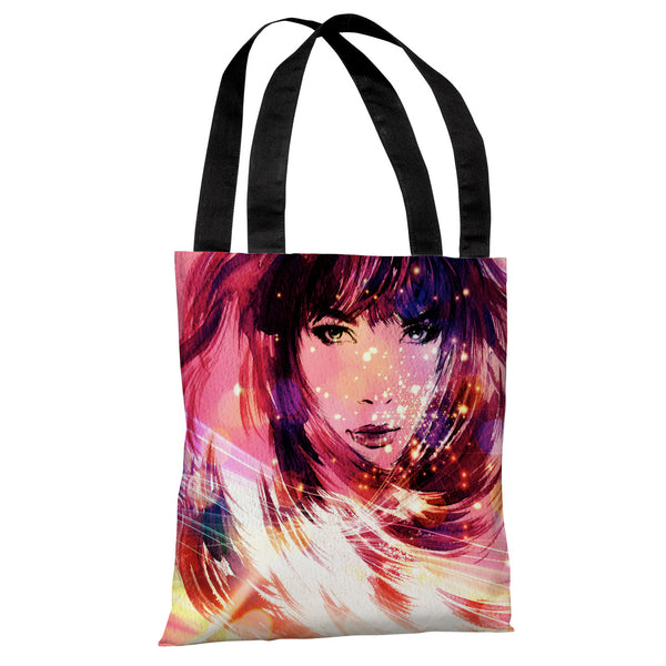 Her Time To Shine - Pink Multi Tote Bag by OneBellaCasa.com