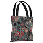 Hidden Garden - Gray Multi Tote Bag by OBC
