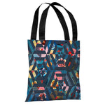 Intragarden 2 - Navy Multi Tote Bag by OBC
