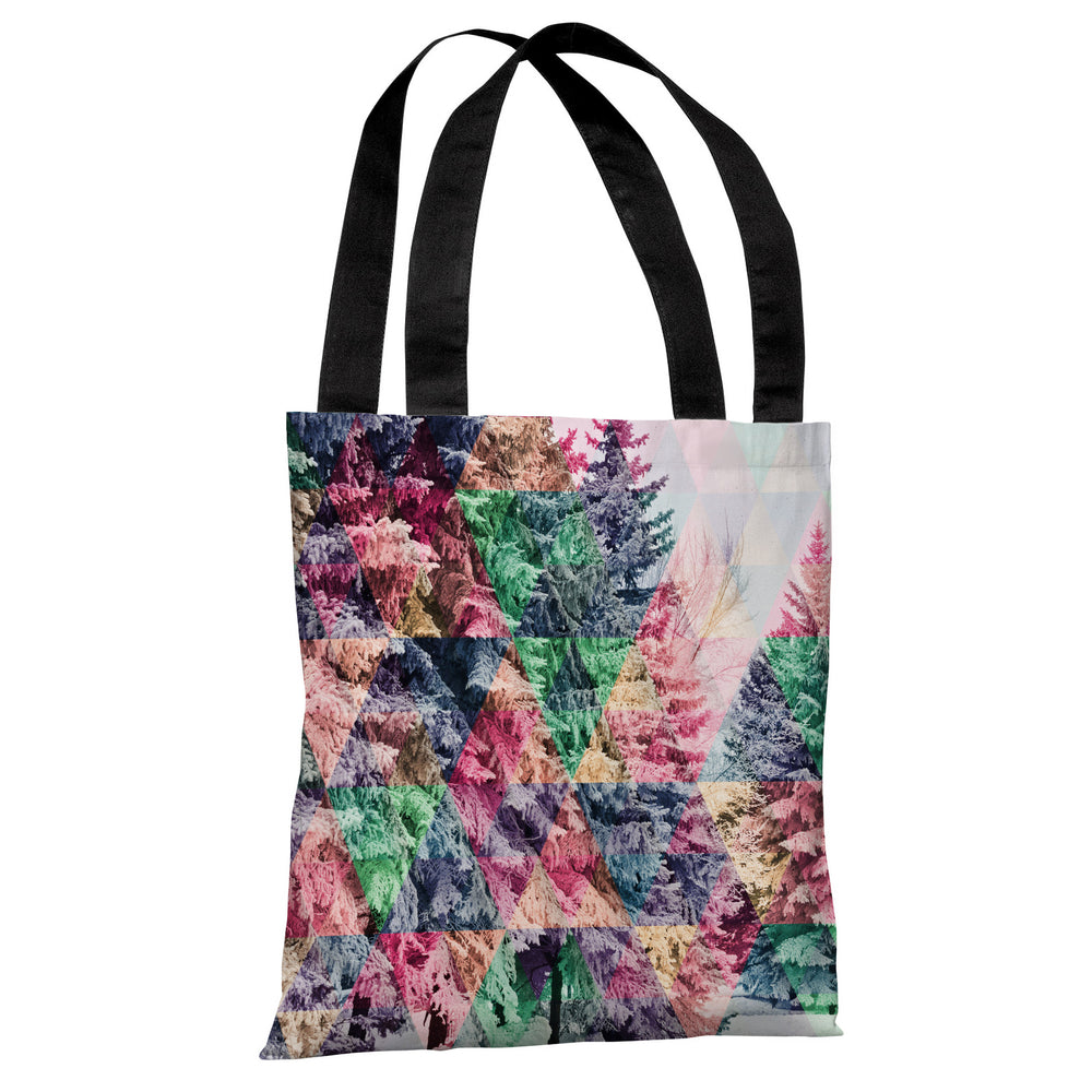 Pine Trees Geo - Multi Tote Bag by OBC