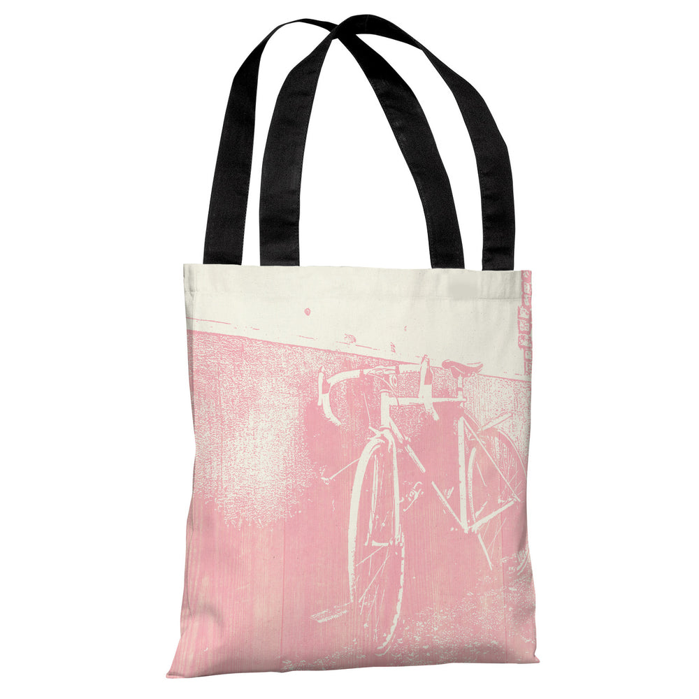 Ride The Bike - Cream Pink Tote Bag by OBC