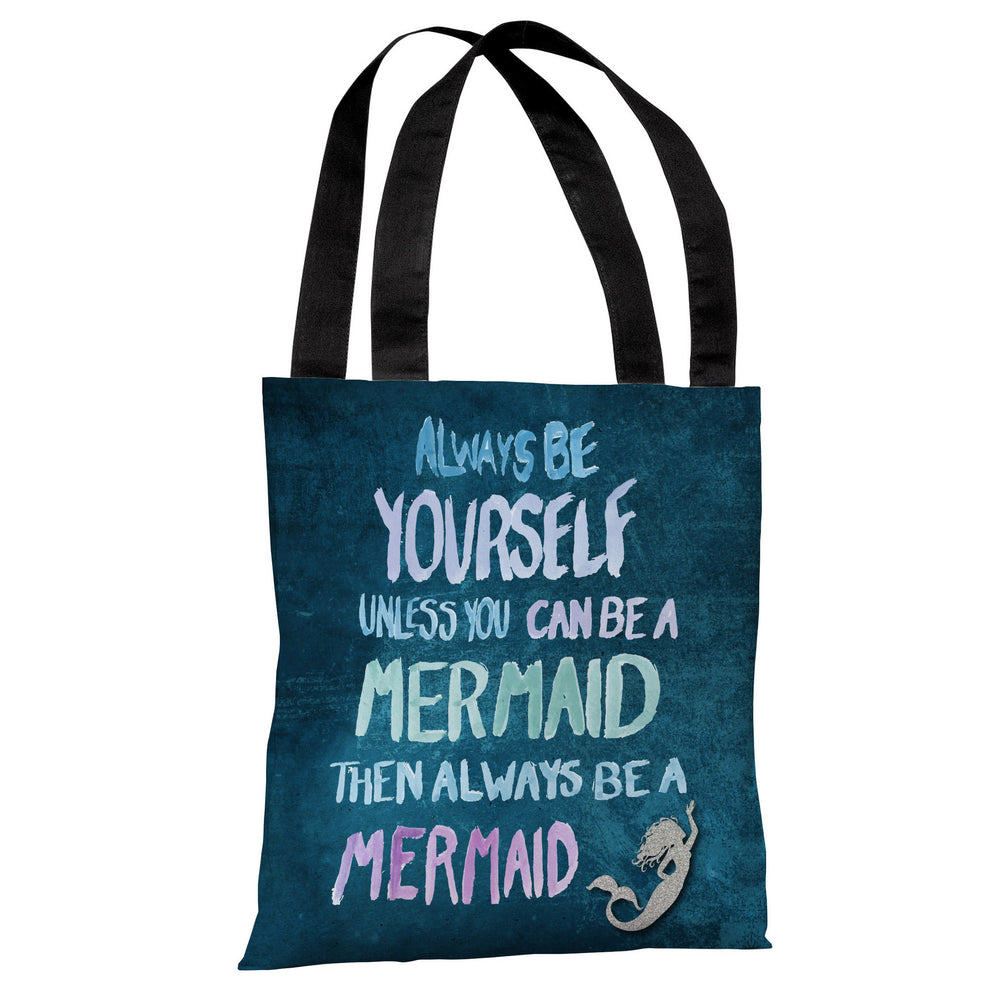 Be A Mermaid - Navy Multi Tote Bag by OBC