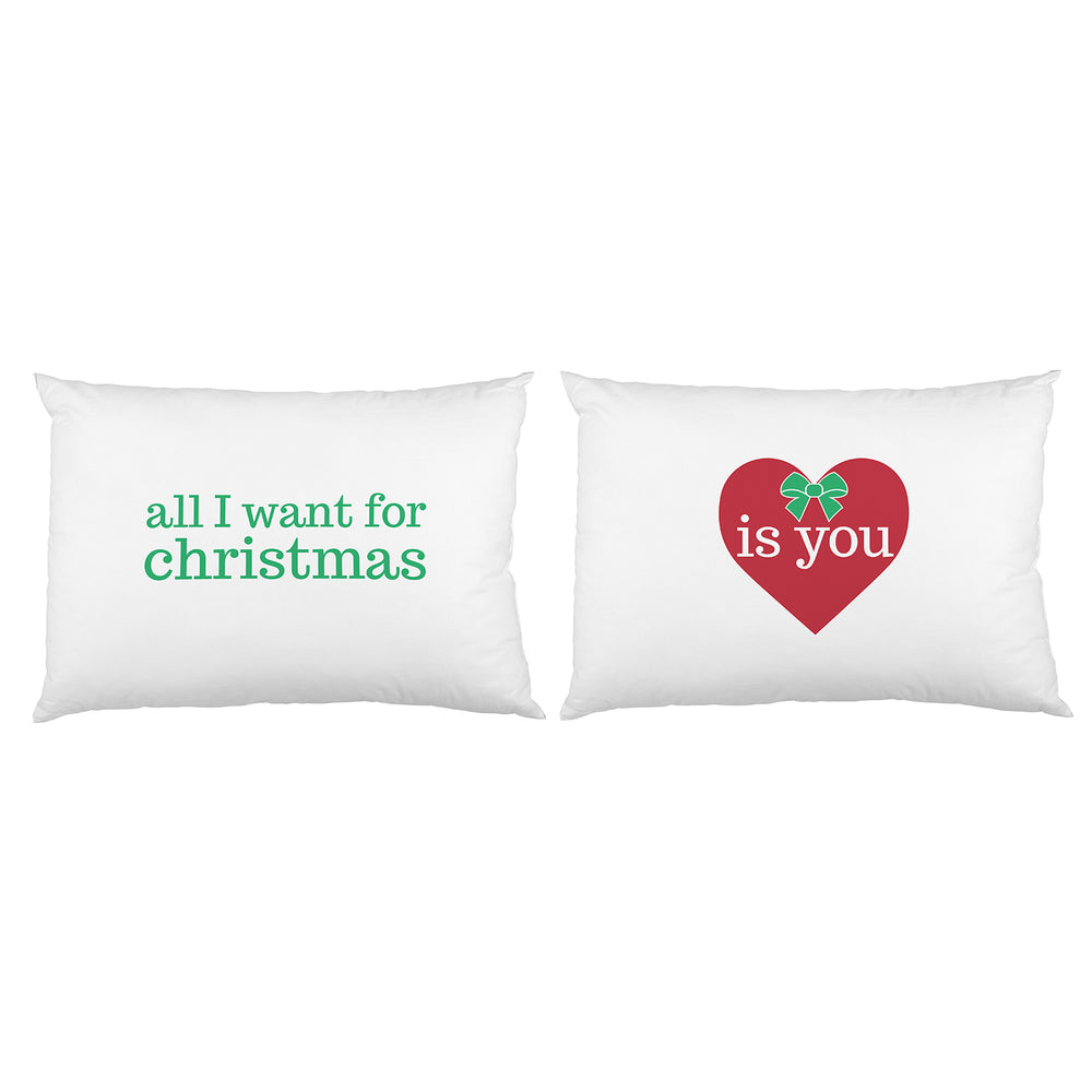 All I Want for Christmas is You - Red Green Set of 2 Pillow Case by OBC