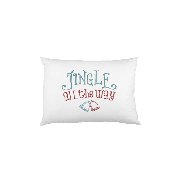 Jingle All the Way - Blue Maroon Single Pillow Case by OBC