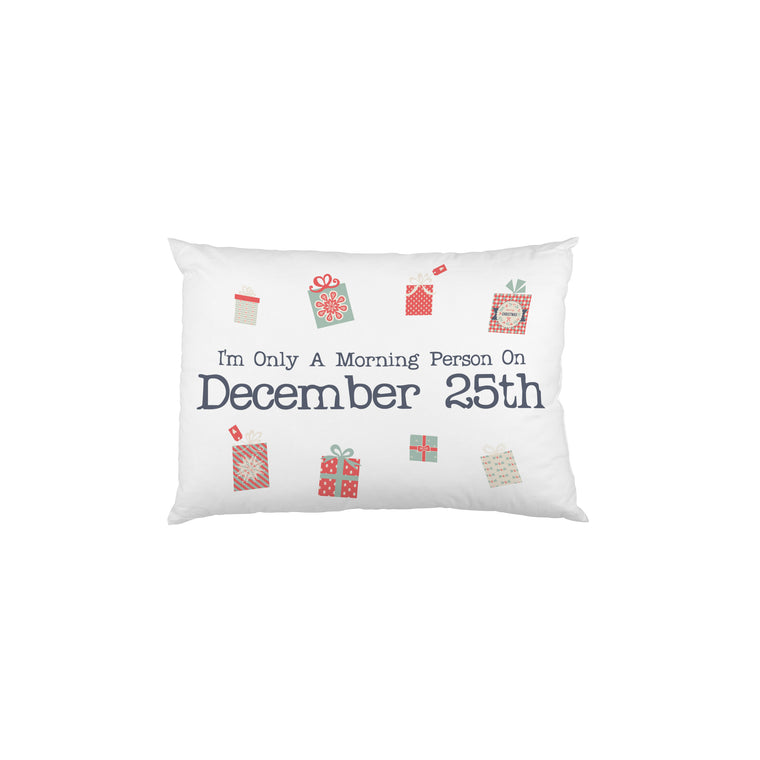 Morning Person Presents - Multi Single Pillow Case by OBC