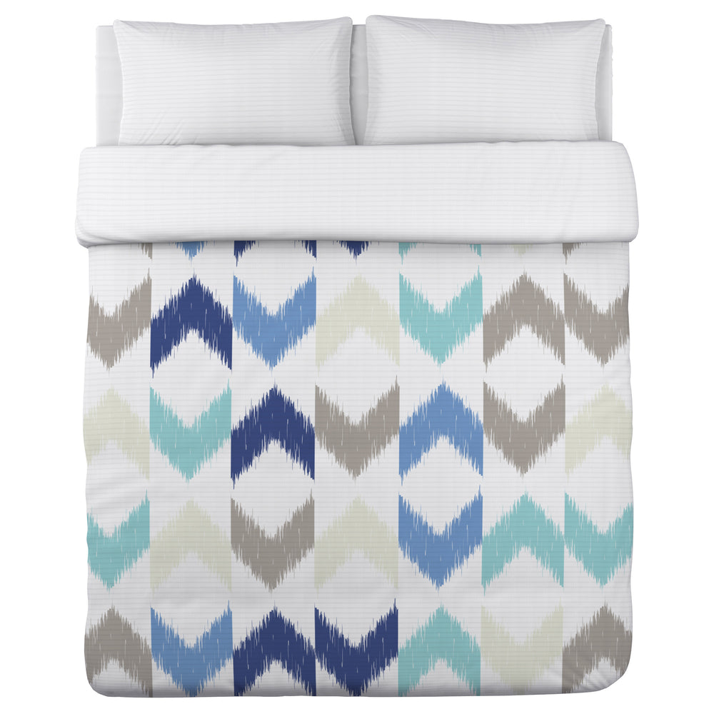 Soft Ikat Arrows - Blue Multi Lightweight Duvet Cover by OBC