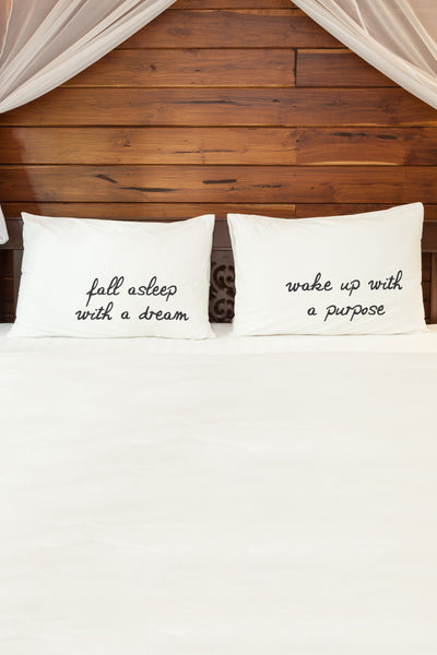 Fall Asleep With a Dream  Pillowcase by OBC