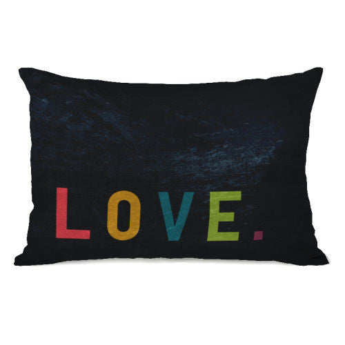 Love Letters Throw Pillow by OBC