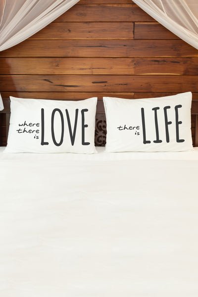 Where There Is Love  Pillowcase by OBC
