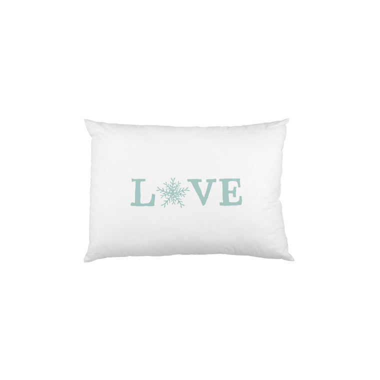 Love Snowflake  - Blue Single Pillow Case by OBC