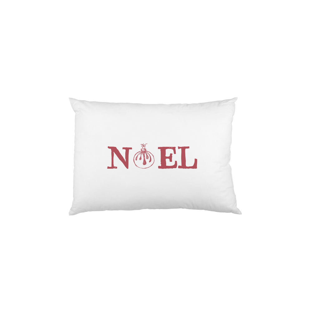 Noel Ornament  - Red Single Pillow Case by OBC