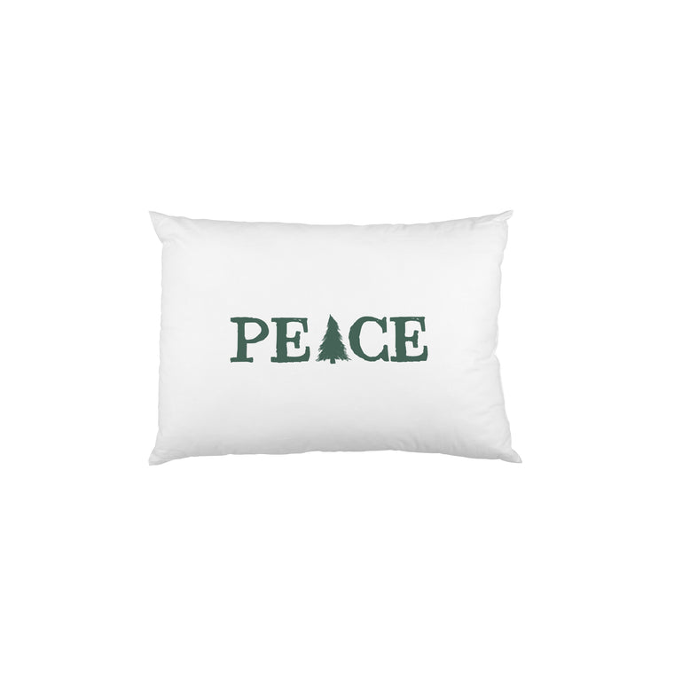 Peace Tree  - Green Single Pillow Case by OBC