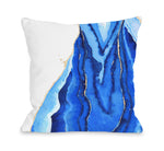 Bold Formations - Blue Throw Pillow by lezleeelliot