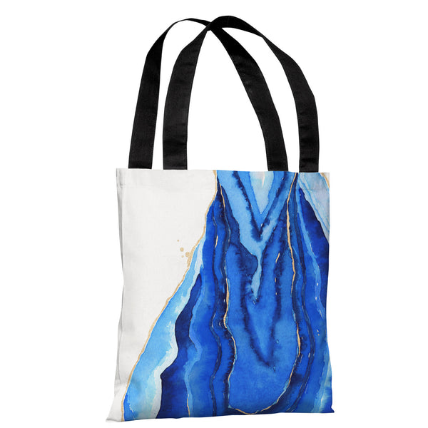 Bold Formations - Blue Tote Bag by lezleeelliot