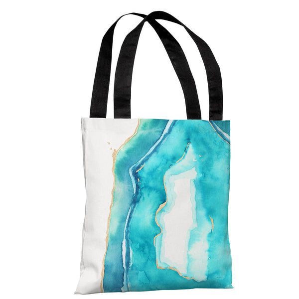 Bold Formations - Caribbean Aqua Tote Bag by lezleeelliot