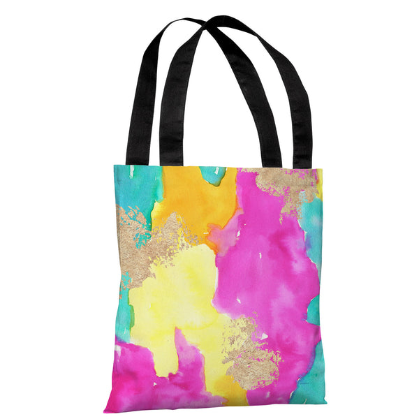 Color Splash - Blue Multi Tote Bag by lezleeelliot