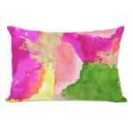 Color Splash - Green Multi Throw Pillow by lezleeelliot