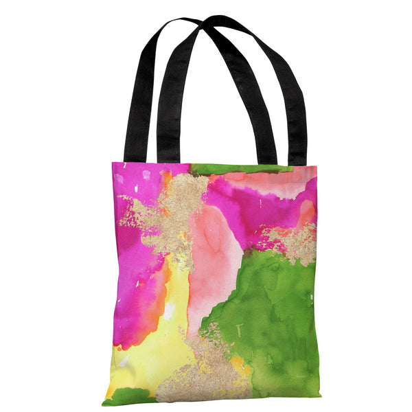 Color Splash - Green Multi Tote Bag by lezleeelliot