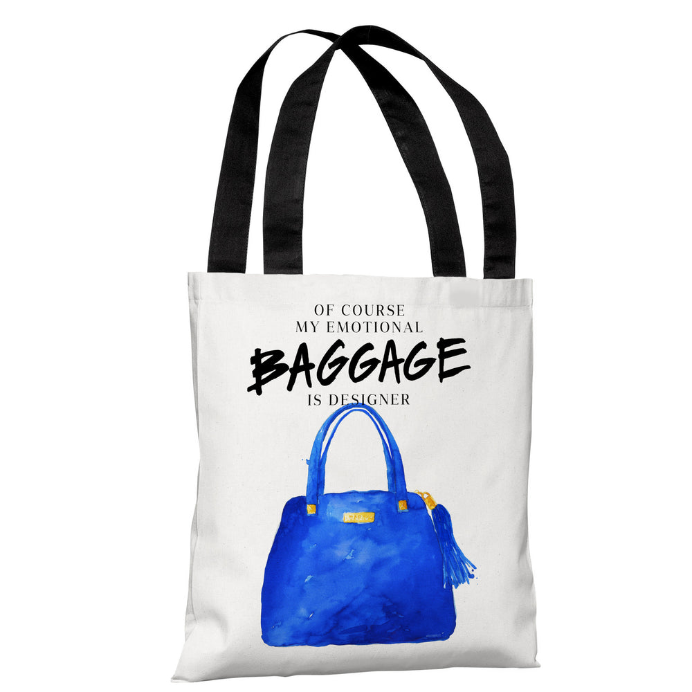 Emotional Baggage- White Blue Tote Bag by lezleeelliot