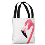 Fabulous Flamingo - Pink Tote Bag by lezleeelliot