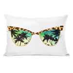 Paradise Sunnies - Multi Throw Pillow by lezleeelliot