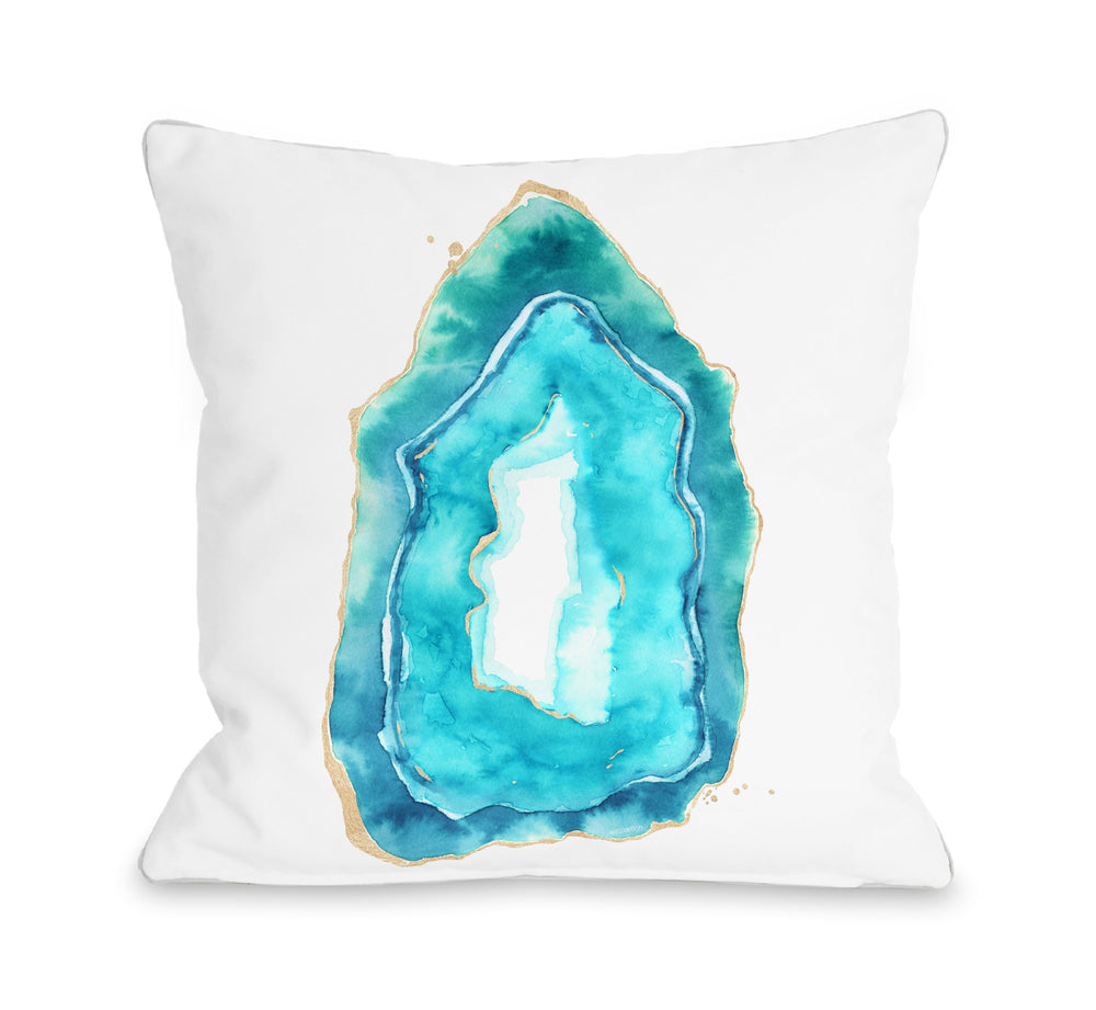 Petite Formations - Caribbean Aqua Throw Pillow by lezleeelliot