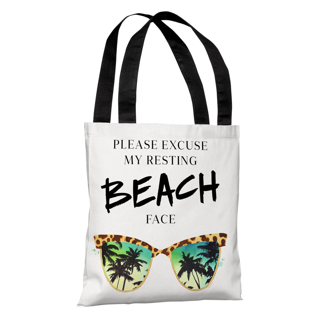 Resting Beach Face - Multi Tote Bag by lezleeelliot
