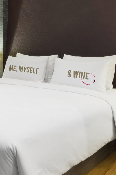 Me Myself Wine Pillowcase by OBC