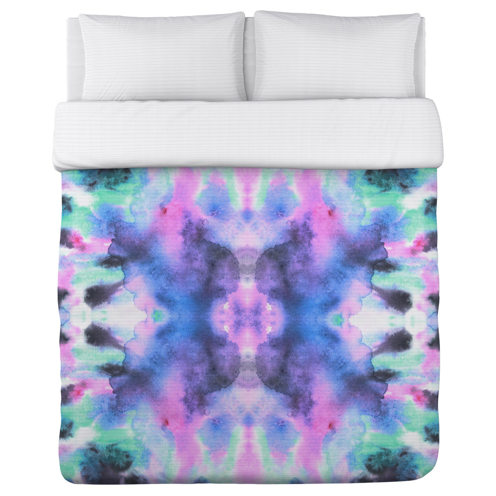 Abstract Ink Colors - Multi Lightweight Duvet Cover by OBC