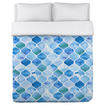 Ocean Moroccan - Blue Lightweight Duvet Cover by OBC