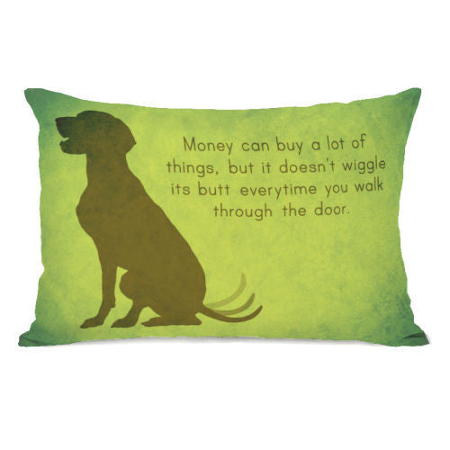 Butt Wiggle Throw Pillow by OBC