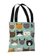 Cat Smiles Tote Bag by OBC
