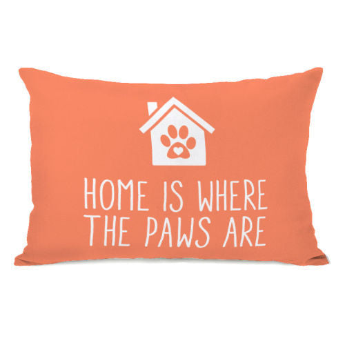 Home Is Where The Paws Are Throw Pillow by OBC