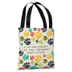 If My Dog Doesnt Like You Tote Bag by OBC