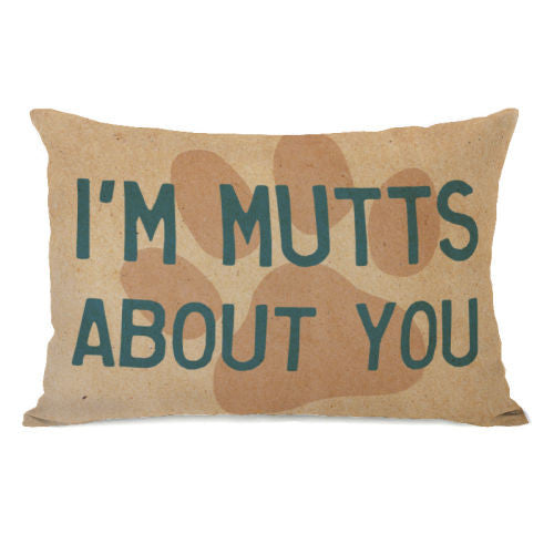 Im Mutts About You Throw Pillow by OBC
