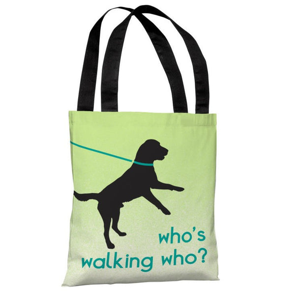 Whos Walking Who Tote Bag by OneBellaCasa.com