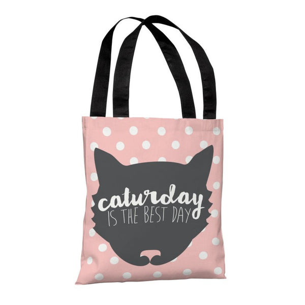 Caturday Is The Best Day Tote Bag by OneBellaCasa.com