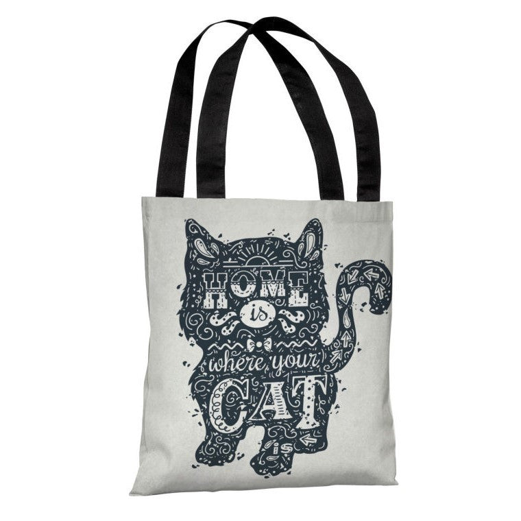 Home Is Where The Cat Is Tote Bag by OBC