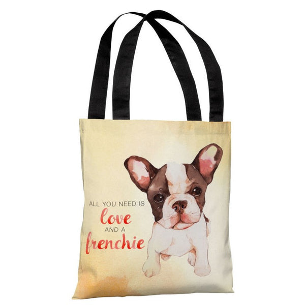 Love and a Frenchie Tote Bag by OneBellaCasa.com